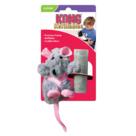 Kong-Speeltje-pluche-rat-10-cm-grijs-groen