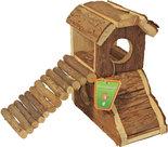 Hamsterhuis-met-loopbrug-Natural-17-cm