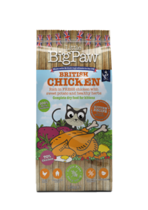 Little big paw British Chicken Complete Dry Food for Kittens 1.5kg