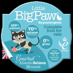 Little BigPaw Gourmet Atlantic Salmon Mousse For Cats (85g)