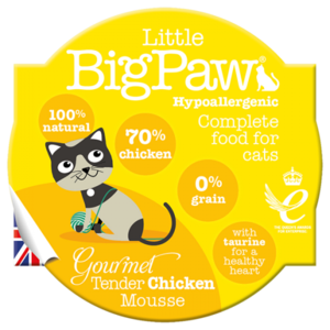 Little BigPaw Gourmet Tender Chicken Mousse for Cats (85g)