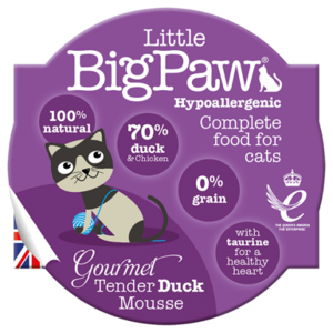 Little BigPaw Gourmet Tender Duck Mousse For Cats (85g)