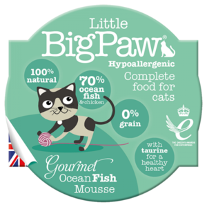 Little BigPaw Gourmet Ocean Fish Mousse For Cats (85g)