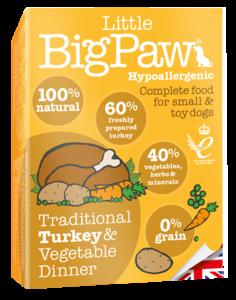 Little BigPaw Traditional Turkey & Vegetable Dinners 150g