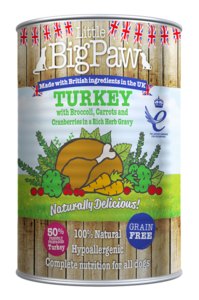 Little BigPaw Turkey with Broccoli, Carrots and Cranberries in a Rich Herb Gravy (390g)