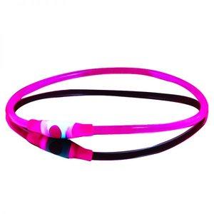 Lichtgevende Led halsband voor honden Roze