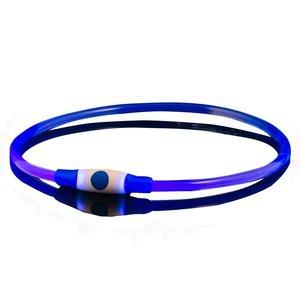 Lichtgevende Led halsband voor honden Blauw