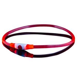 Lichtgevende Led halsband voor honden Rood