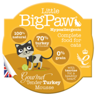 Little BigPaw Gourmet Tender Turkey Mousse For Cats (85g)