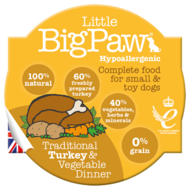 Little BigPaw Traditional Turkey & Vegetable Dinners (85g)