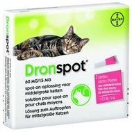 Dronspot Spot-On Kat 2.5 - 5 Kg - Anti wormenmiddel - 2 pipetten