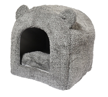 Teddybeer kattenmand iglo grijs 38X38X40 CM