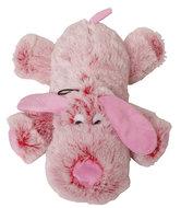 Pluche harige Hond met piep 35 cm roze